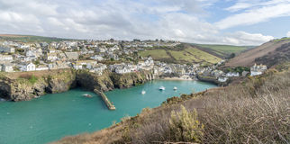 Coastal path around port Isaac near port quin cornwall england UK Stock Photography