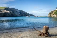 Coastal path around port Isaac near port quin cornwall england UK Royalty Free Stock Photography