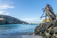 Coastal path around port Isaac near port quin cornwall england UK Royalty Free Stock Images