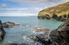 Coastal path around port quin near port isaac cornwall england UK Stock Images