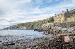 Coastal path around port quin near port isaac cornwall england UK Royalty Free Stock Image