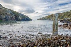 Coastal path around port quin near port isaac cornwall england UK Stock Photography
