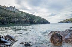 Coastal path around port quin near port isaac cornwall england UK Royalty Free Stock Photos