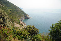 Coastal path, Cinque Terre ITALY Stock Photography