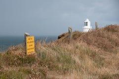 Coastal path in Cornwall stock photo