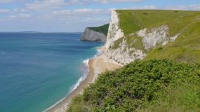Coastal path in Dorset. Royalty Free Stock Images