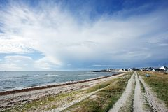 Coastal path in Finistere coast Royalty Free Stock Photo