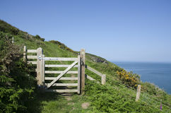 Coastal path gateway. Royalty Free Stock Photography