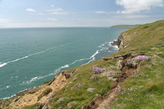 Coastal path near Durlston Royalty Free Stock Photos