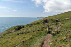 Coastal path near Durlston Stock Image