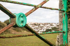 Coastal path near padstow through the gate Royalty Free Stock Images