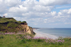 Coastal path at Sheringham Stock Images