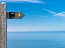 Coastal Path Sign Cardigan Bay Wales  Royalty Free Stock Images