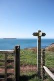 Coastal path sign post Royalty Free Stock Image