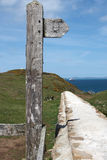 A coastal path sign post Stock Images