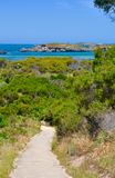 Coastal Path: Turquoise Indian Ocean View royalty free stock image