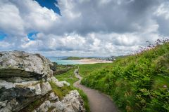 Free Coastal Pathway In St Ives Royalty Free Stock Photography - 124434657