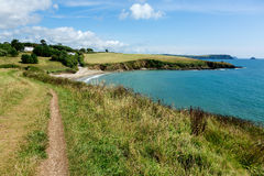 Coastal Pathway leading to Porthcurnick Beach Cornwall Royalty Free Stock Photos