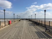 Coastal Pier at Skegness Sea front Stock Image