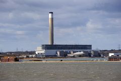 A coastal power station Royalty Free Stock Photo