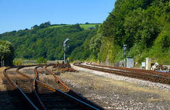Coastal Preserved Railway Royalty Free Stock Photography