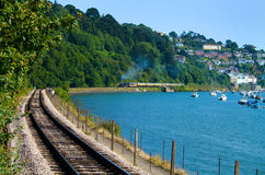 Coastal Preserved Railway Stock Photo
