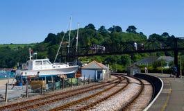 Coastal Preserved Railway Royalty Free Stock Images