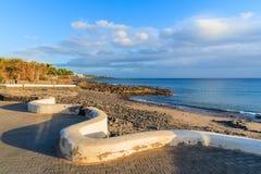 Coastal promenade in Playa Blanca holiday resort Royalty Free Stock Image