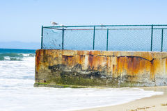 Coastal protection groin Royalty Free Stock Image