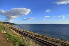 Coastal railroad Stock Photo