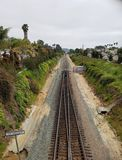 Coastal railway line in california Stock Photography