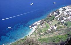 Coastal resort aerial view Royalty Free Stock Photography