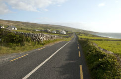 Coastal road along The Burren loop, County Clare Royalty Free Stock Photo