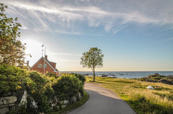 Coastal road on  Bornholm Stock Images