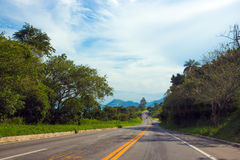 Coastal road at Brazil Royalty Free Stock Image