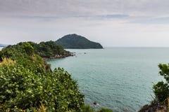 Coastal road at Chanthaburi, Thailand  Royalty Free Stock Images