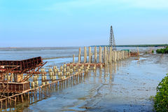 Coastal road construction site, Thailand Royalty Free Stock Images