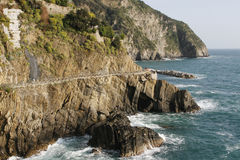 Coastal road in Italy Stock Image