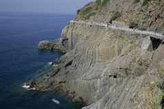 Coastal road in Italy Stock Images
