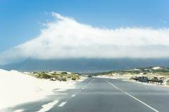 Coastal road Kalk Bay, South Africa Royalty Free Stock Photos