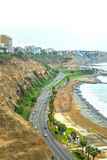 Coastal road in Lima Royalty Free Stock Photography