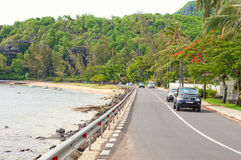 Coastal road on Mauritius island Royalty Free Stock Photos