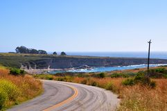 Coastal road in Montana de Oro state park Stock Image