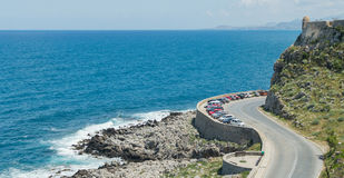 Coastal road in mountain landscape Stock Photos