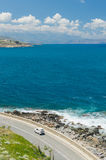 Coastal road in mountain landscape Royalty Free Stock Images