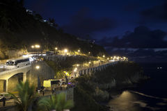 Coastal road at night royalty free stock photography