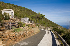Coastal road, Pantelleria Royalty Free Stock Photos
