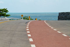 Coastal road sea at Khung Viman bay, Chanthaburi, Stock Images
