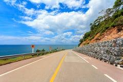 The Coastal Road. With Sea and Sky Stock Photos