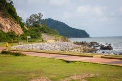 Coastal Road and Sea Royalty Free Stock Photos